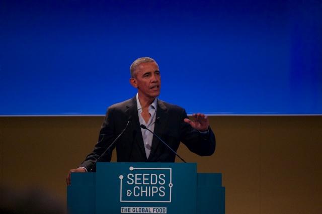 Barack Obama @Seeds&Chips - foto di Guido Medici